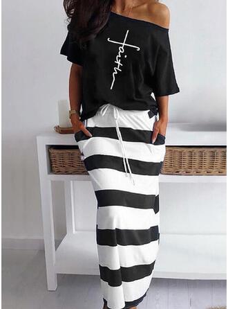 Striped Imprimé Grande taille Décontractée Ancien Costume