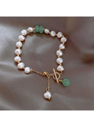 Unique Exquisite Stylish Alloy Pearl With Pearls Women's Ladies' Girl's Bracelets
