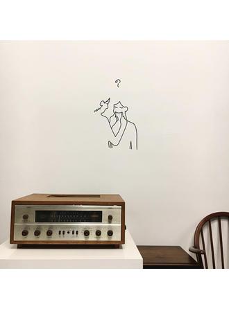 Autocollant mural en vinyle autocollant machine /à caf/é machine /à caf/é porte-gobelet /à th/é /étag/ère cuisine salon affiche dart d/écoratif 57X25Cm