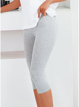 Couleur Unie Sportif Extensible leggings