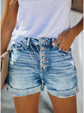 Les poches Froncé Grande taille Décontractée Sexy Treillis Short