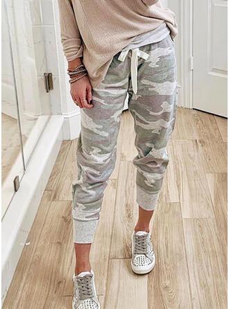 Camouflage Long Casual Drawstring Pants