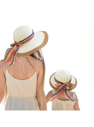 Dames/D'enfant/Femmes Beau/Style Classique/Élégante Polyester Chapeaux de plage / soleil