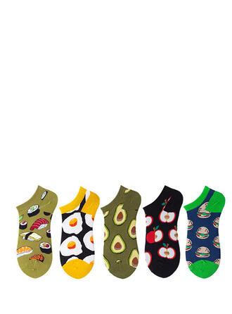 Country style/Colorful/Crochet Multicolore/Chaussette de cheville Chaussettes (Ensemble de 5 paires)