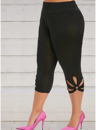 Couleur Unie Grande taille Élégante Sexy Yoga leggings