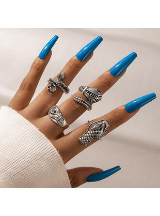 Attractive Charming Artistic Delicate Alloy With Snake Design Women's Ladies' Rings 4 PCS