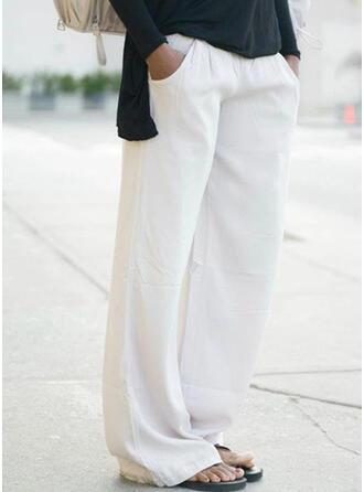 Couleur Unie Grande taille Décontractée Plaine Pantalons de détente