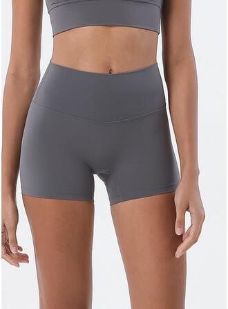 Spandex De chinlon Couleur unie Pantalons de yoga/fitness Évacuation de l'humidité