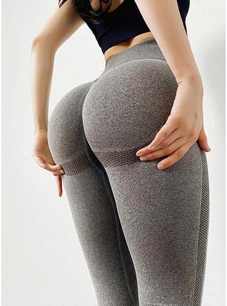 Spandex Nylon De chinlon Couleur unie Pantalons de yoga/fitness Sous-vêtements de sport