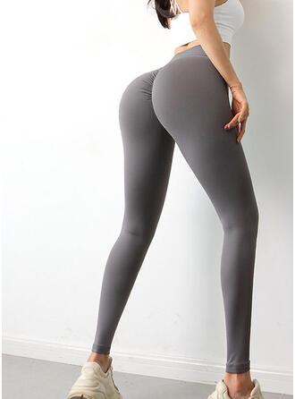 Nylon De chinlon Couleur unie Pantalons de yoga/fitness Évacuation de l'humidité
