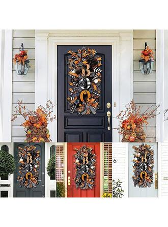 Vintage Horrifying Exotic Halloween Cloth PP Door Hanging Garland Halloween Props